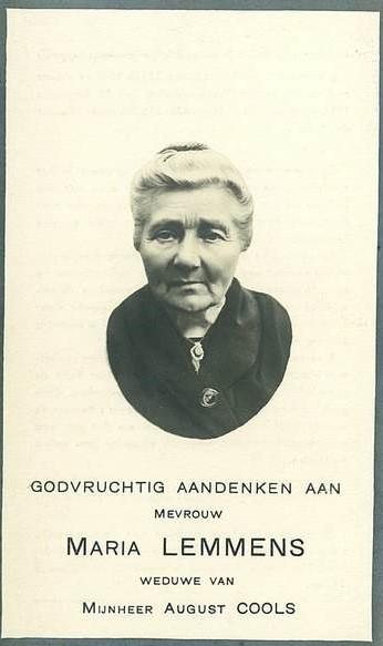 Lemmens-Cools 1869-1944